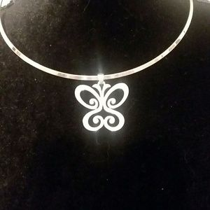James Avery collar and butterfly